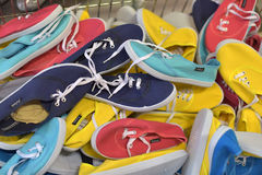 Colored sneakers Stock Image