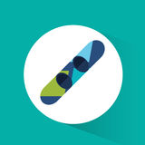Colored snowboard winter sport badge. Vector illustration eps 10 Stock Photos