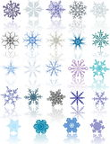 Colored Snowflakes Stock Photo