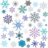 Colored Snowflakes Stock Photography