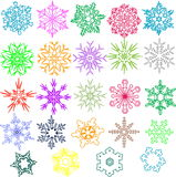 Colored Snowflakes Royalty Free Stock Image