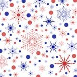 Colored snowflakes and circles Royalty Free Stock Photos