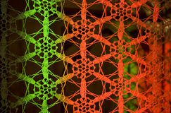 Colored Snowflakes Macrame Royalty Free Stock Image