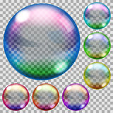 Colored soap bubbles Stock Image