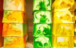 Colored soap Stock Photo