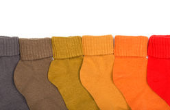 Colored socks Royalty Free Stock Photo