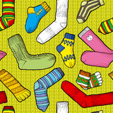 Colored socks. Seamless texture with colored socks Stock Images