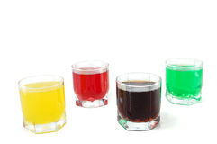 Colored soft drinks Stock Photo