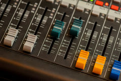 Colored sound mixer bottom Stock Images