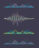 Colored sound waves design Royalty Free Stock Photos