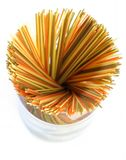 Colored spaghetti from upside Royalty Free Stock Photos