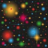 Colored sparkle lights. Vector illustration of colored sparkle lights Stock Photography