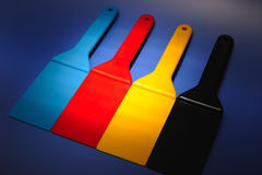 Colored spatulas Stock Photography
