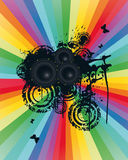 Colored Speaker Background Stock Images