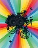 Colored Speaker Background. Vector Illustration Stock Images