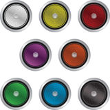 Colored speakers. A set of 8 speakers with different colors Stock Photography