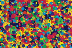 Colored specks. Colorful specks with round shape Stock Image