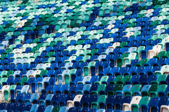Colored Spectatator Seating Chairs Royalty Free Stock Photos