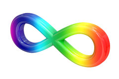 Colored spectrum infinity sign. 3D rendering stock illustration