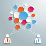 Colored Speech Bubble Circles 2 Businessmen Stock Photo