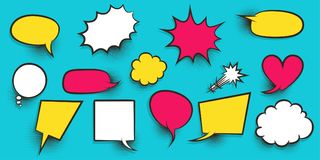 Colored speech bubble Royalty Free Stock Photo