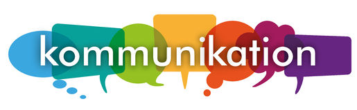 Colored Speech Bubbles Header Kommunikation Royalty Free Stock Photo