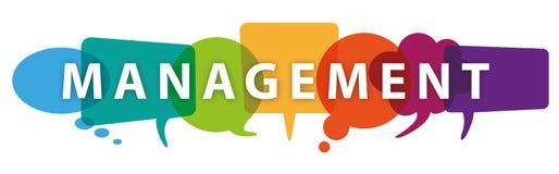 Colored Speech Bubbles Header Management Stock Photos
