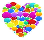 Colored Speech Bubbles Heart Shape. Vector Illustration Royalty Free Stock Images
