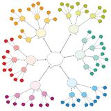 Colored Speech Bubbles Network Web Pattern. Colored speech bubbles. Symbol for information and knowledge sharing, teaching, discussing, passing it on, for rumors royalty free illustration