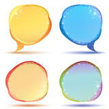 Colored speech bubbles with sparkles Stock Photo