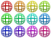 Colored spheres. 12 colored spheres for webdesign Stock Photo