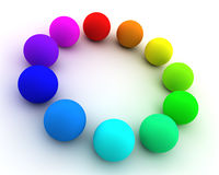 Colored spheres. Abstract background with many colored spheres Stock Photo