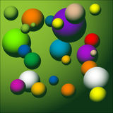 Colored spheres. Abstract colored background with various colored spheres Royalty Free Stock Photography