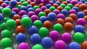 Colored spheres. 3d design. Colored spheres and caos Royalty Free Stock Photography