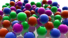 Colored spheres. 3d design. Colored spheres and caos Stock Photography