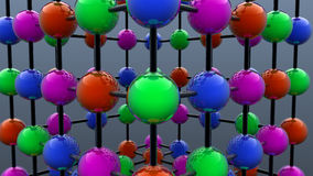 Colored spheres. 3d design. Colored spheres and connections Stock Image