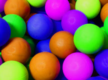 Colored spheres with fluorescent colours. Colored spheres with fluorescent plastic colours Stock Photography