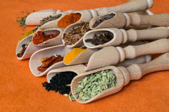 Colored spices Stock Photo