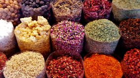 Colored spices royalty free stock photo