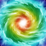 Colored spiral galaxy Royalty Free Stock Photo