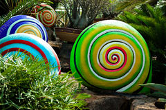 Colored spiral shape Royalty Free Stock Images