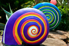 Colored spiral shape Stock Images