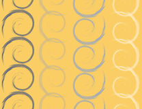 Colored spirals, seamless pattern, vector illustration Royalty Free Stock Photography
