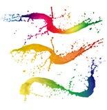 Colored splashes Royalty Free Stock Image