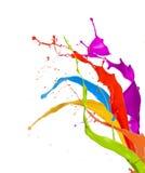 Colored splashes Stock Photos
