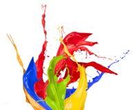 Colored splashes Stock Image