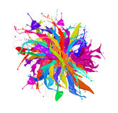Colored splashes Stock Photos