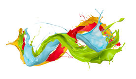 Colored splashes Royalty Free Stock Photo