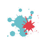 Colored splashes in abstract shape design. Illustration Royalty Free Stock Photos