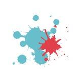 Colored splashes in abstract shape design. Illustration stock illustration